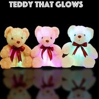 Soft Light Up Teddy Flash Fulgor Toy 7 Humor Cores Aconchegante Stuffed Animal Plush Presente Do Urso Para Crianças Crianças Crianças partido plush animals teddy teddies teddy bear stuffing -