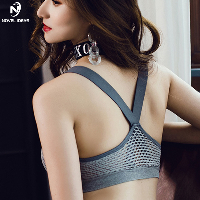 69514c98469b3 Yoga Push Up Sports Bra for Women Hollow out Strappy Fitness Crop Tops  Backless Brassiere Sport Tank Top Padded Sports Bra Set