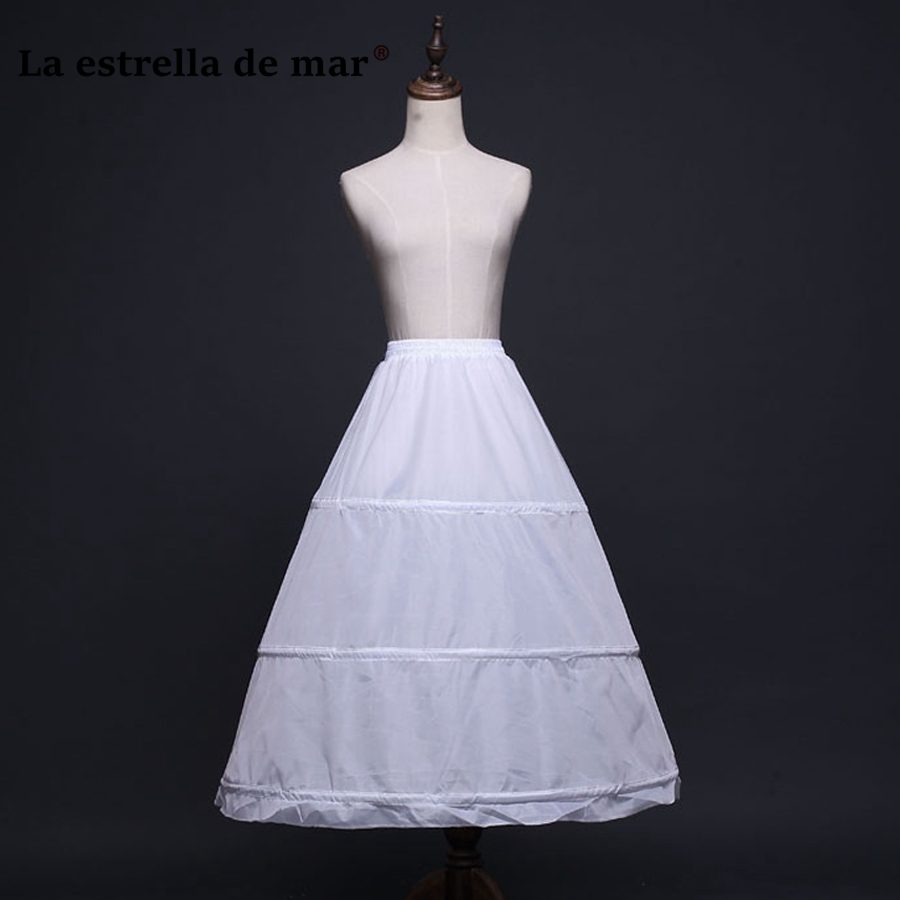 Jupon Mariage Stock A Line Black White Trailing Petticoat High Quality Underskirt Elegant Enaguas Para El Vestido De Boda Petticoats