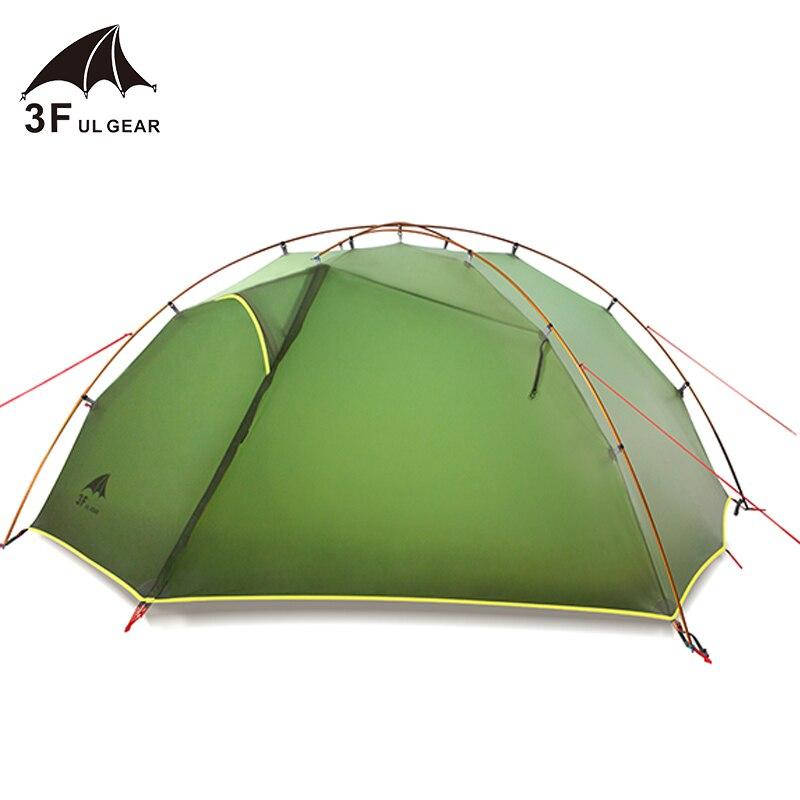 3F UL GEAR Tai Chi 2 Green and white 3-4 Season Camping Tent 15D silicon Nylon Fabic Double Layer Waterproof Tent for 2 Persons3F UL GEAR Tai Chi 2 Green and white 3-4 Season Camping Tent 15D silicon Nylon Fabic Double Layer Waterproof Tent for 2 Persons