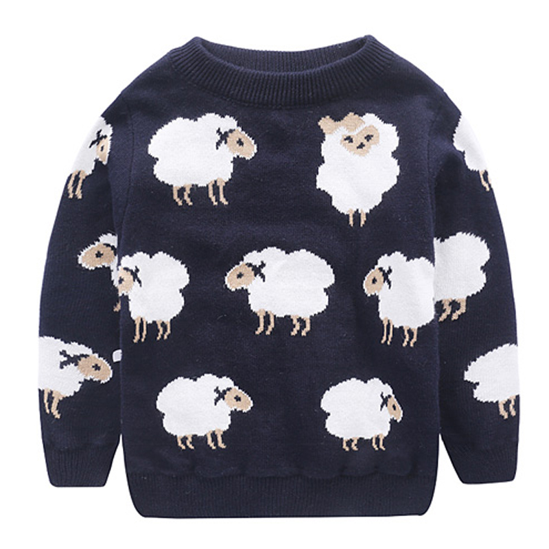 kids sweaters and pullovers cartoon sheep sweater for boy girl clothes 2016 christmas autumn winter toddler pullovers outerwear