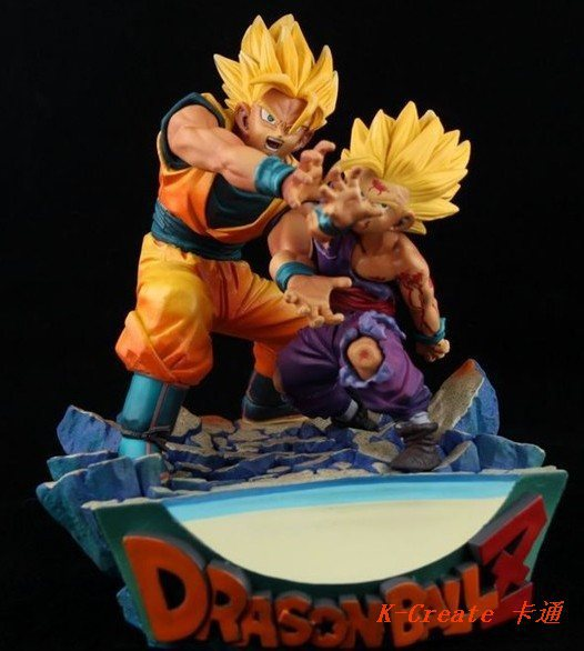 ФОТО Wholesale Japana anime 1set dragon ball Goku and Gohan pvc action figure toy tall 18cm set.Free shipping 1set for dragon ball .