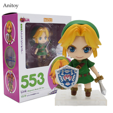 Cute Nendoroid The Legend of Zelda Link Majora's Mask 3D Ver. #553 PVC Action Figure Collectible Model Toy 4″ 10cm KT2282
