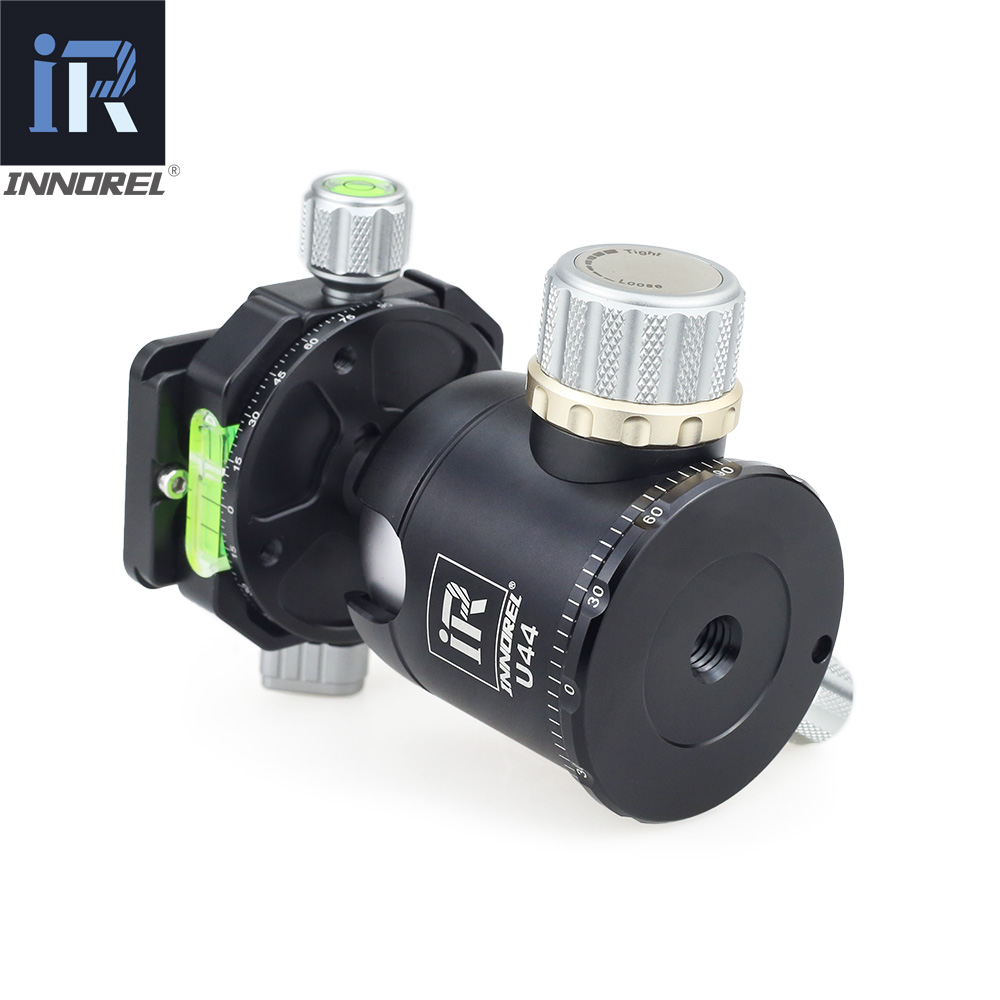 INNOREL U44 44mm doble cabeza panorámica de bola de alta resistencia 720 grados cabeza de trípode para cámara compatible con Arca Swiss 20kg carga - 5