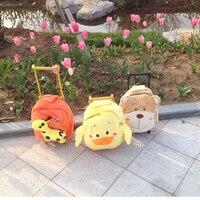 Hot New Arrival Deer Duck Bear Plush School Bag Soft Stuffed School Backpack Trolley School Bag