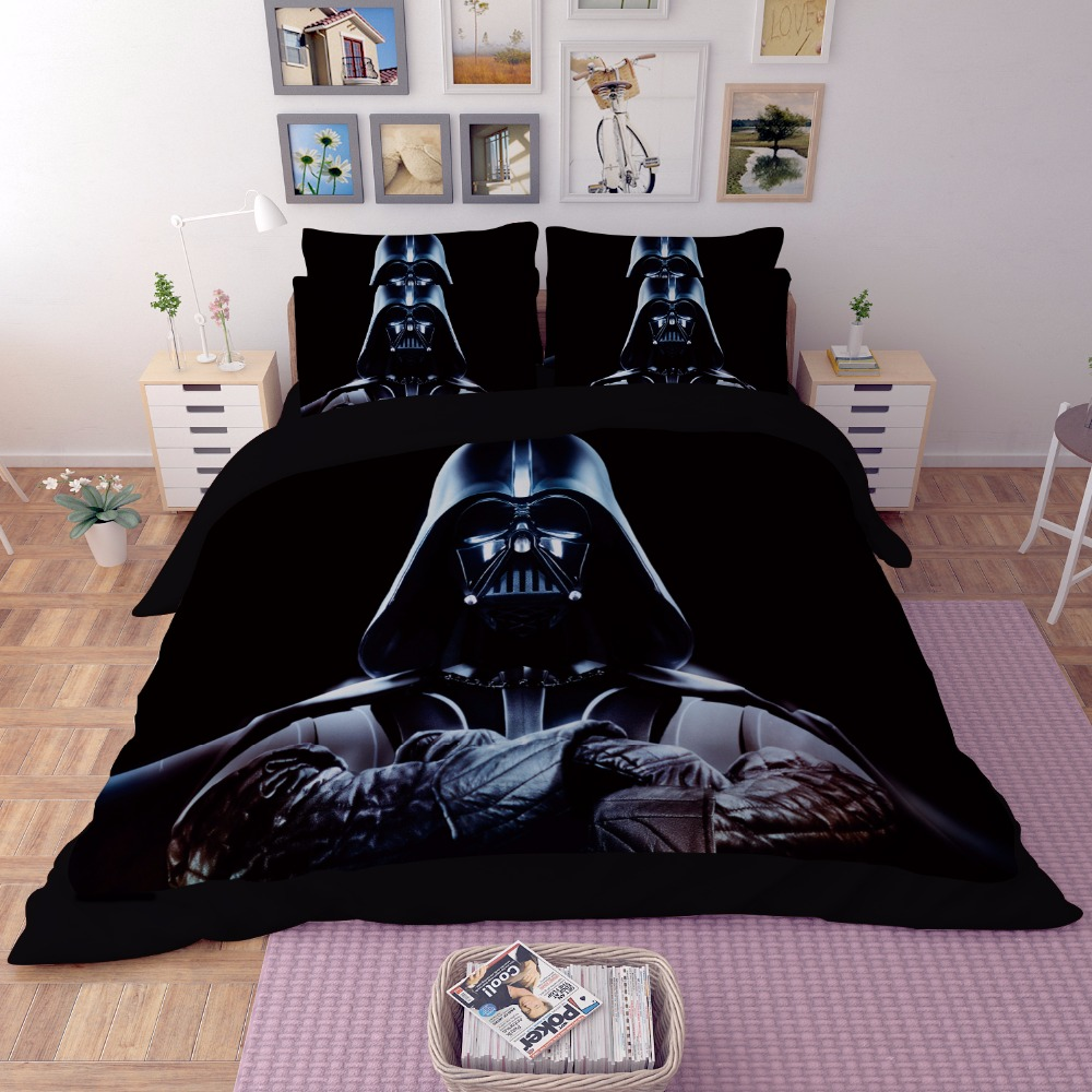 Star wars 3d bedding set print duvet cover twin full queen - Drap housse king size ...