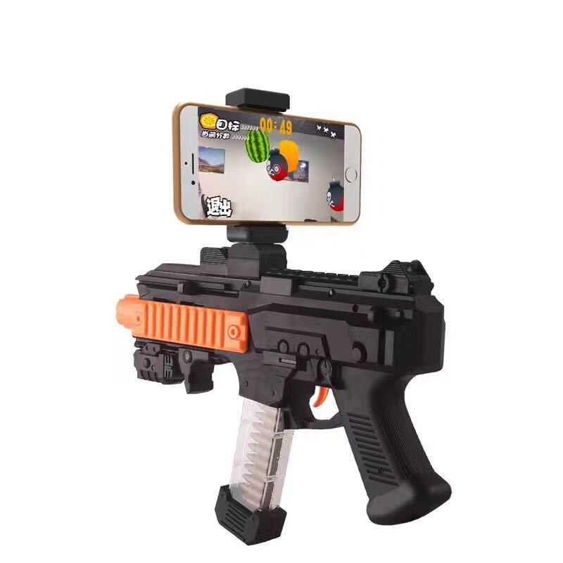 blueloong AR Game Gun with Cell Phone Stand Holder Portable Plastic Toy Game Gun with 3D