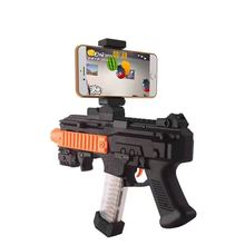 blueloong AR Game Gun with Cell Phone Stand Holder Portable Plastic Toy Game Gun with 3D AR Games for iPhone Android Smart Phone