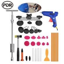 PDR Werkzeuge Auto-einbuchtung Reparatur Auto Body Repair Kit Dent Removal Dent Puller Kit Ziehen Brücke Slide Hammer EU Klebepistole Hand werkzeuge