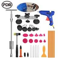 PDR oto tamir aracı paintless dent çektirme araba göçük kaldırma aracı slayt çekiç çektirme tutkal sekmeler vantuz el aletleri kiti|pdr tools|hand toolsrepair kit -