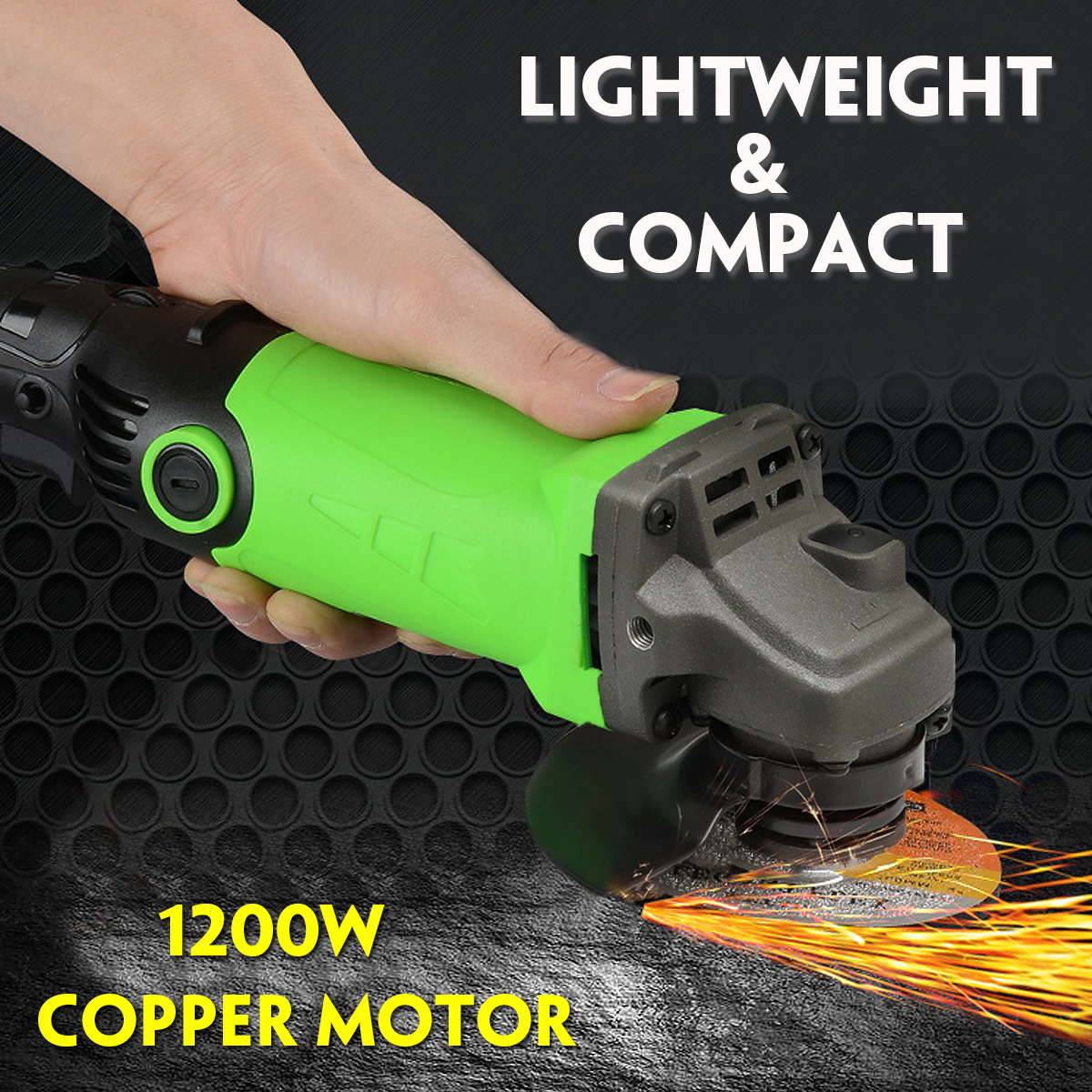 1Set 220V 1200W Multipurpose Angle Grinder 6 Levels Speed Adjustable Polishing Machine With Grinding Drilling Tools Angle Grin vibration type pneumatic sanding machine rectangle grinding machine sand vibration machine polishing machine 70x100mm