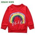 Sogni niños 1 a 4 años de edad camisas de algodón para niños chicos grils niños clothing primavera del niño del bebé prendas de vestir exteriores 2017