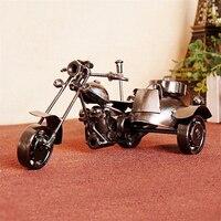 15*8*8センチレトロメタルクラフト絶妙なレトロ三輪車オートバイクリスマスギフト鉄材デコホームショーギフト用友