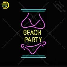 Sinal de néon para a festa de praia neon lâmpada sinal decoração praia luz de viagem sala luzes néon sinal tubo vidro icônico luz anuncio luminoso
