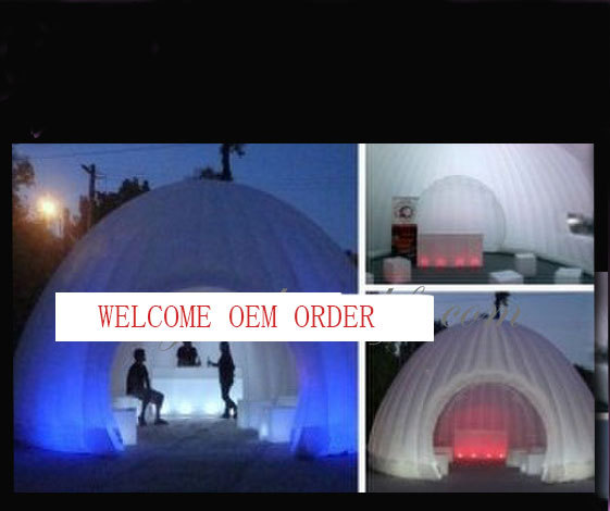 Реклама надувные палатки со светодиодный разноцветными огоньками на улицу хорошая атмосфера
