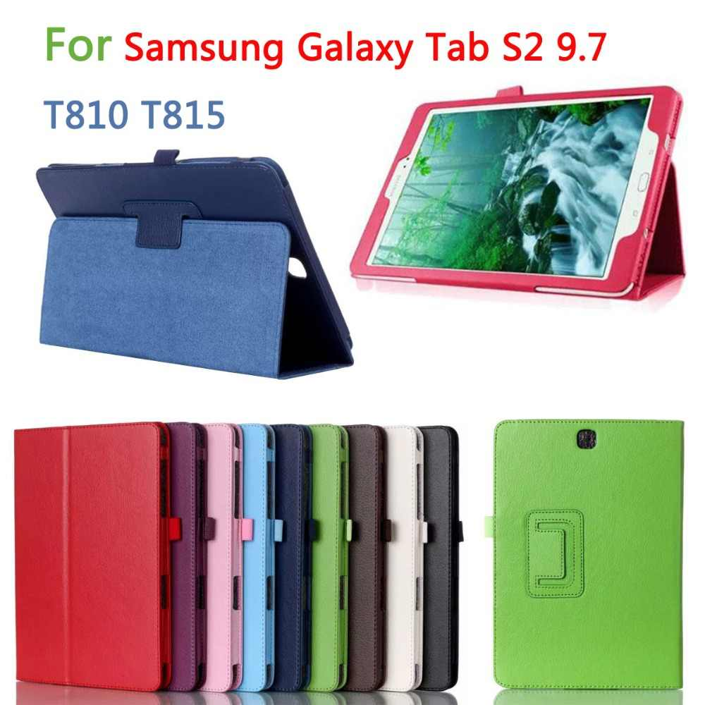 Luxe PU Leather Stand Case Cover Voor Samsung Galaxy Tab S2 9.7 inch T810 T813 T815 T819 SM-T810 SM-T813 SM-T815 tablet