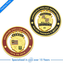 Custom Cheap Gold Military Coin high quality custom cut hollow  metal coins