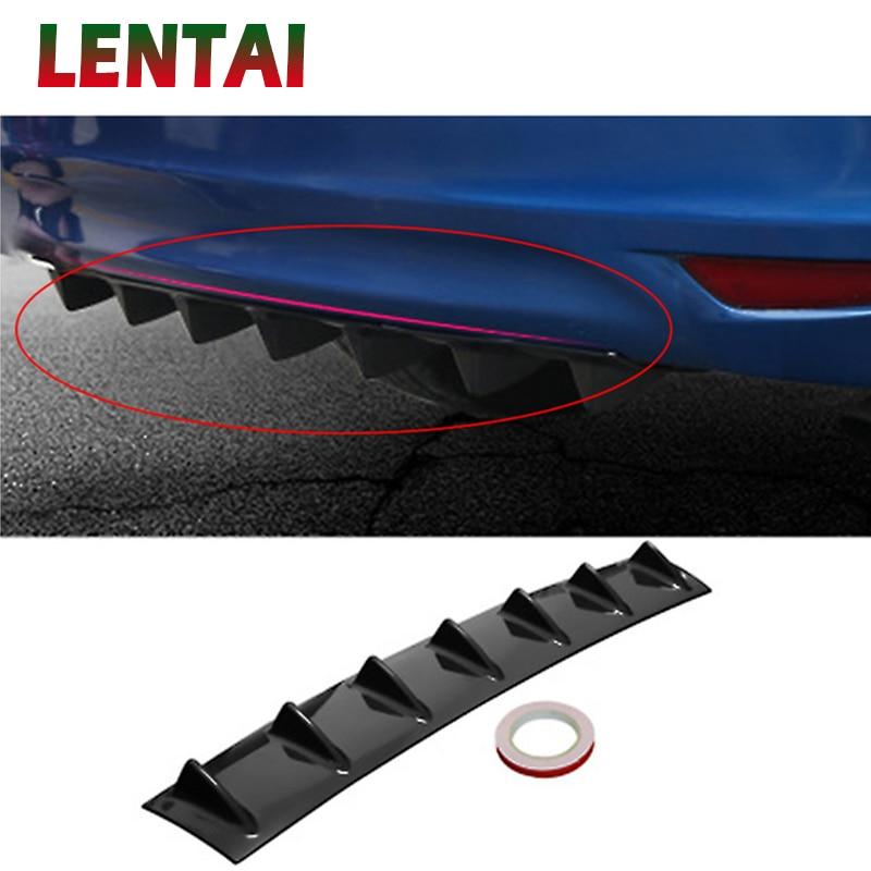 LENTAI 1PC Car Rear Bumper Modified Spoiler Shark Fin Styling For Seat Leon Ibiza Skoda Rapid Fabia Octavia Yeti Audi A3 A4 B8