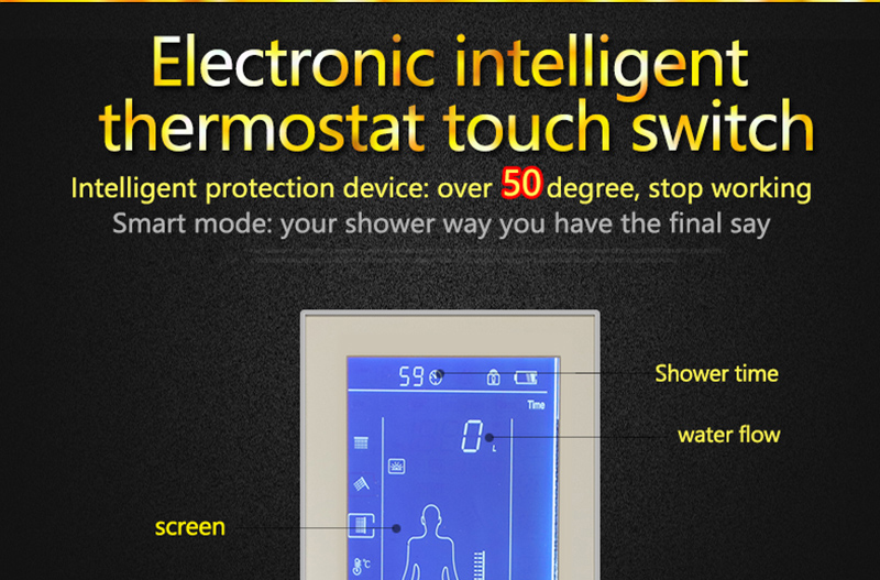 Bathroom 3 Ways Shower Sets Intelligent LCD Digital Concealed 20 SPA Mist Thermostatic LED Smart Shower Set Touch Panel Mixer (6)