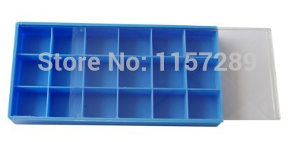 Free shipping Small Plastic Storage Tray with Lid 18 Compartments watch font b tools b font