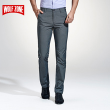 2017 Top Fashion Brand Clothing Casual Pants Men Classic Slim Fit Dress Flat Suit Mens Trousers Formal Business Cotton for Male