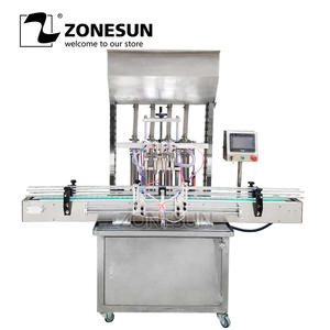 ZONESUN Gel Oil-Filling-Machine Hand-Sanitizer Honey-Paste Automatic Beverage-Production-Line