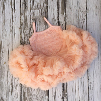 Children Girl Dress Adorable Baby Girls Champagne Rosette Dresses Cake Smash Birthday Petti Tutu Dress