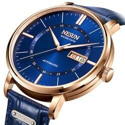 Szwajcarski nesun zegarek mężczyźni luksusowej marki japan miyota automatyczne mechaniczne zegarki męskie Sapphire relogio masculino zegar N9209 1 w Zegarki mechaniczne od Zegarki na