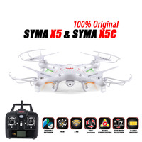 100% Original SYMA X5C (Upgrade Version) RC Drone 6 Axis Remote Control Helicopter Quadcopter With 2MP HD Camera or X5 No Camera