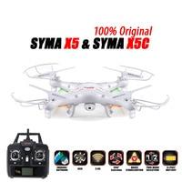 100% Original SYMA X5C (Upgrade Version) RC Drone 6 Axis Remote Control Helicopter Quadcopter With 2MP HD Camera or X5 No Camera
