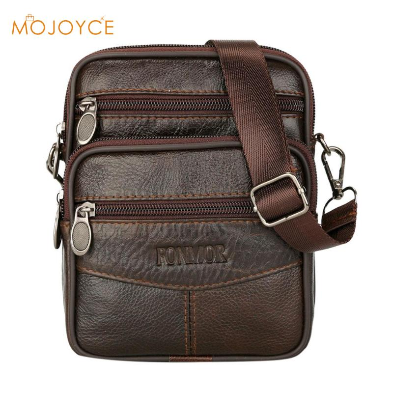 Mens Leather Small Messenger Bag Satchels Multifunctional Crossbody Shoulder Bag Genuine Leather Crossbody Bags Dropshipping