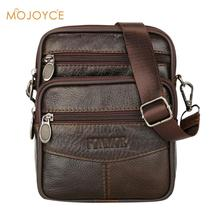 Mens Leather Small Messenger Bag Satchels Multifunctional Crossbody Shoulder Genuine Bags Dropshipping