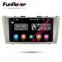 Funrover Android 8,0 2 din dvd gps навигация Авторадио для Toyota Camry 2008 2009 2010 2011 Rds Wi Fi радио navi usb no dvd