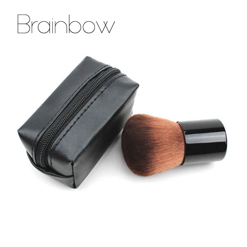 Brainbow Makeup Brush BB Cream Concealer Foundation Powder Brushes with PU Bag Face Make Up Maquiagem Professional Beauty Tools 1pc multifunction makeup brushes and 15 color concealer oblique wooden handle mask powder facial face cream set beauty tools