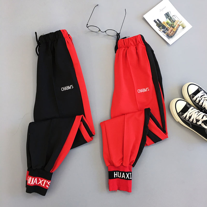 Spring Sport Cargo Pants Plus Size Letter Embroidery Pants Women High Waist Streetwear Cool Girl Harajuku Hip Hop Pants
