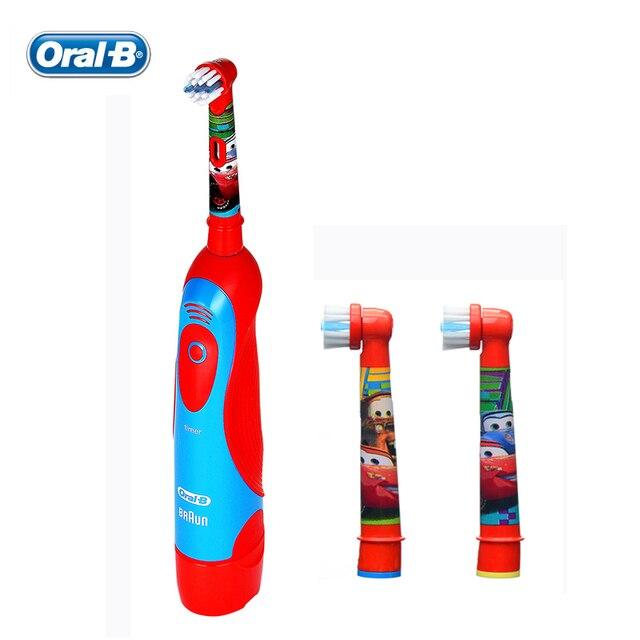 Oral B Дети Электрическая Зубная Щетка DB4510K Pixar Автомобили Мальчики Зубная Щетка с АА Батареи + 2 Rechangeable Насадки-Щетки