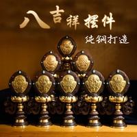 Wholesale Buddhist articles # Buddhism Buddhist temples religious Eight Auspicious Symbols of Buddhism 8 JI XIANG Gilding statue