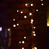 New Waterproof 2.5M 72 LED Strip Ball Rattan String Lights Garden/Home Festival Decoration Lamp For Christmas/Wedding Party/Cafe