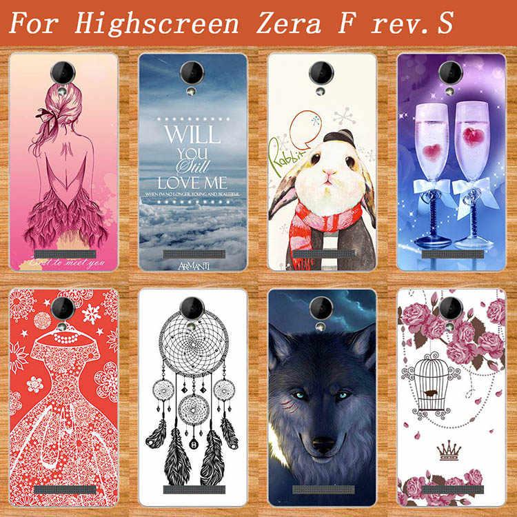 Popularny wzór miękkie etui TPU dla Highscreen ZERA F RE V.S luksusowe 3D diy projekt przypadku kolorowe dla Highscreen Zera F Rev.S okładka