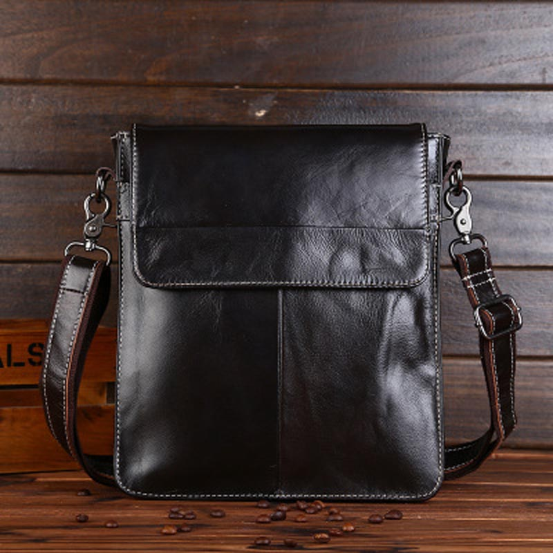 YISHEN New Fashion Men's Crossbody Bags Genuine Cow Leather Men Shoulder Bags Male Business Messenger Bags Document Bag LSL-0013