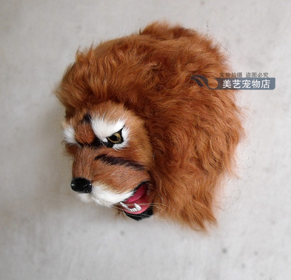 simulation lion head model,polyethylene&fur 22x20x15cm handicraft toy home decoration wall pandent Xmas gift b3836 squatting pose large 20x32cm simulation poodle toy white fur dog model ornament photography prop home decoration gift h1402