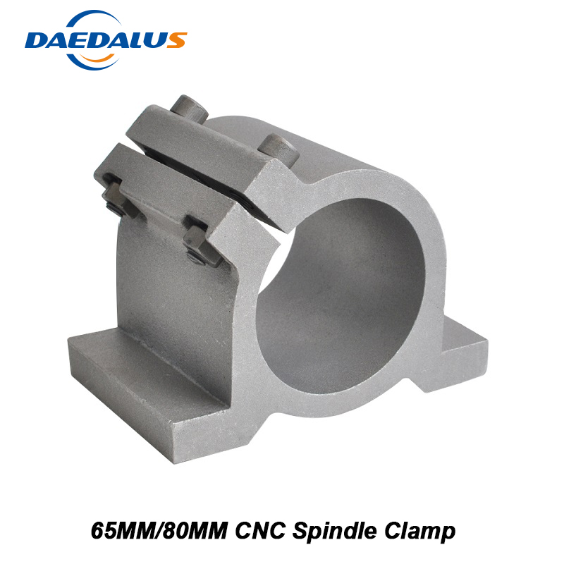 New Updated Version CNC Spindle Clamp Mounting Bracket 65MM Clamping 80MM Bracket For 800W 1.5KW 2.2KW Spindle Motor Machine фанатская атрибутика nike curry nba