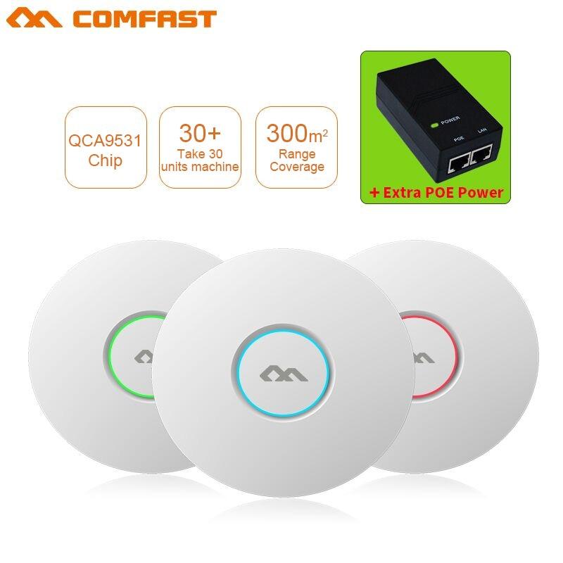 Routeur réseau COMFAST 300 Mbps Wifi routeur réseau 802.11b/g/n plafond intérieur sans fil AP Wifi routeur 48 POE openWRT ddwrt AP