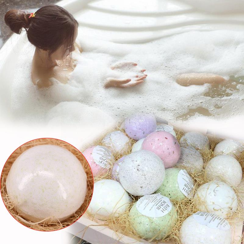 Natural Bubble Bath Bomb Ball Essential Oil Handmade SPA Bath Fizzy Christmas Gifts
