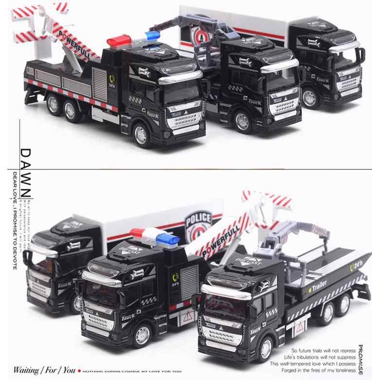1:48 масштаб металлическая модель грузовика, высокая моделирования сплава модель грузовика, спасательный грузовик кран грузовик транспорт, бесплатная доставка