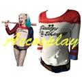 2016 Comando Suicida de Batman Arkham Asylum City Harley Quinn Traje Camiseta Lil Monster T-Shirt Joker Cosplay Disfraces de Papá