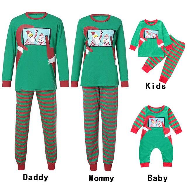 a89401401c0c Family Pajamas Christmas Set Adult Kids Boy Girl Santa Mommy ...