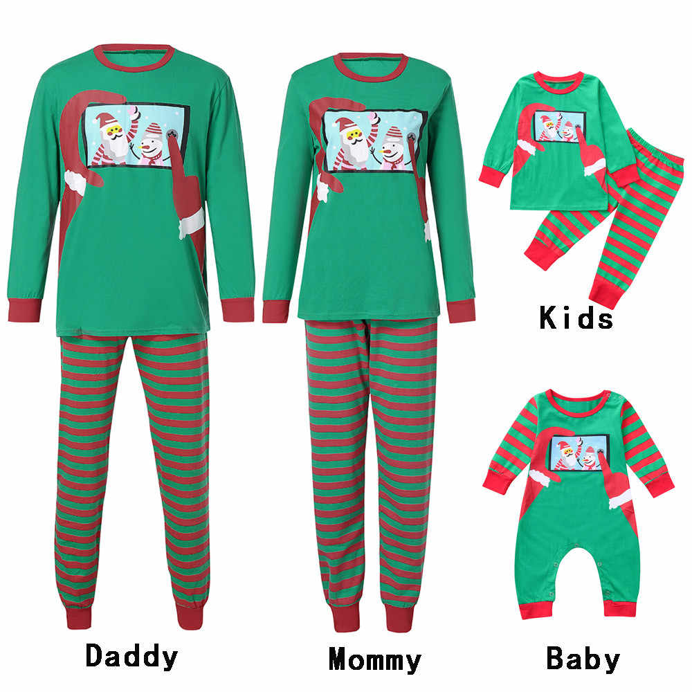 Family Pajamas Christmas Set Adult Kids Boy Girl Santa Mommy Sleepwear  Nightwear Mother Daughter Clothes Matching 1b2a032e3