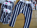 2015 nueva primavera y verano de la Buena calidad de algodón de La Raya de los niños del bebé pantalones del harem de 0-2 años pantalones de los niños