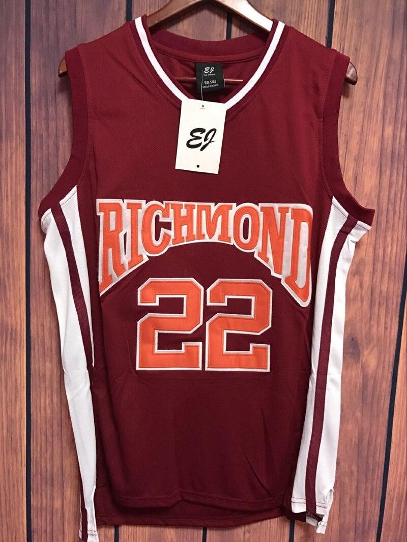 Prix pour EJ Timo Cruz 22 Richmond Oilers Accueil Basketball Jersey Double Piqué Jersey Couleur Rouge